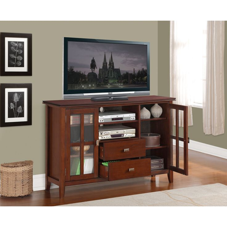 Stratford Collection Tall TV Stand   Overstock  Shopping   Great Deals on  WyndenHall Entertainment Centers. 17 best ideas about Tall Tv Stands on Pinterest   Tall tv cabinet