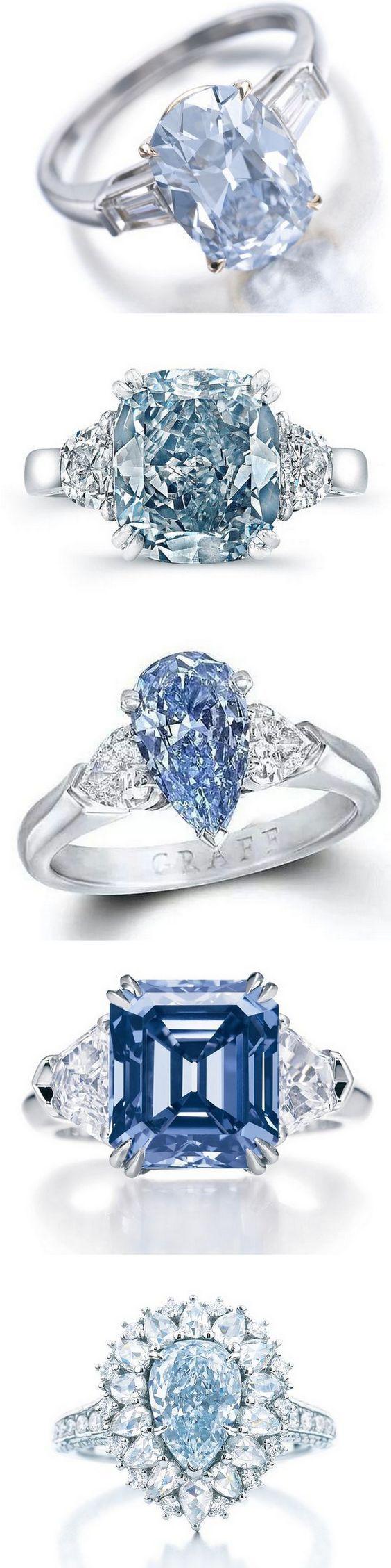 35 gorgeous blue diamonds