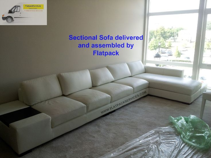 white sectional sofa w chaise delivered and assembled by flatpack httpswww