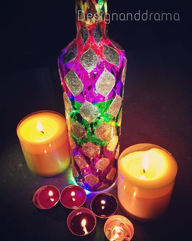 #Brisbane #art #australia #interior #india #girl #boho #bottle #wine #winebottlecrafts #winebottles #lamp #productdesign #productphotography #light #colorful #colors #glasspainting #glasses #gypsy #golden #shimmer #candles #handmade #homedecor #handpainted #custommade #order