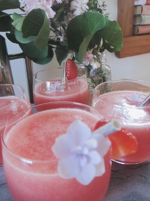 Iced watermelon juice to keep things cool