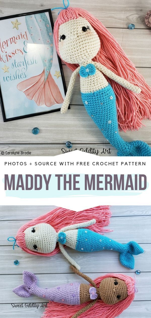 Amigurumi little mermaid free pattern | 1260x600