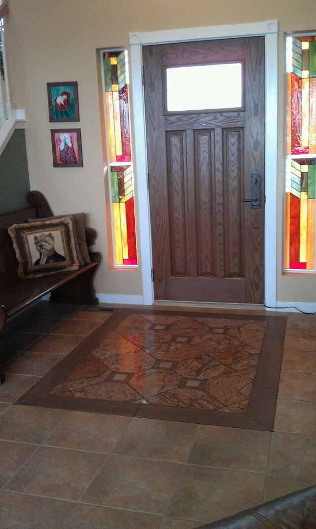 27 best floor tile images on pinterest tile entryway for Front foyer tile designs