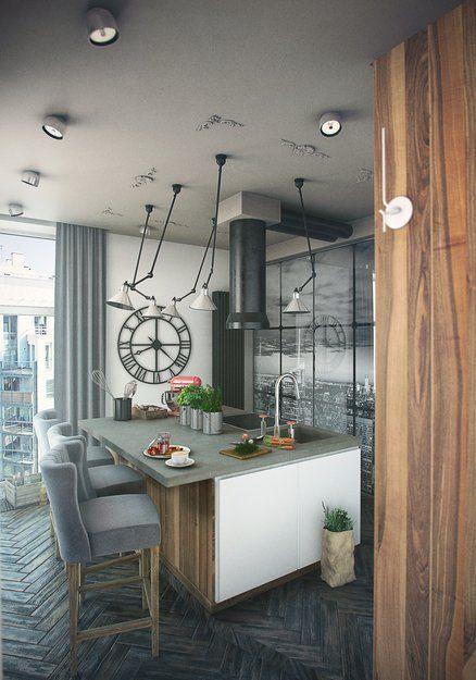 Фотография - Кухня и столовая, стиль: Лофт | InMyRoom.ru