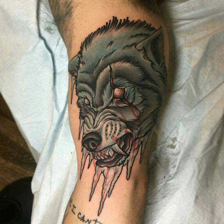 Tattoo done by: Craig Gardyan #lobo #wolf #wolftattoo