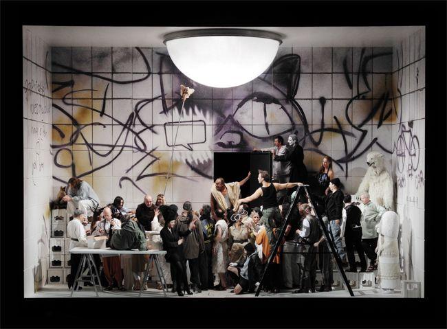 Die Zauberin    Pjotr Iljitsch Tschaikowski  Regie: Tatjana Gürbaca  Bühnenbild und Licht: Klaus Grünberg  Kostüme: Silke Willrett und Marc Weeger  Vlaamse Opera, Antwerpen / Gent  2011