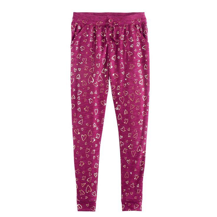 Girls 7-16 & Plus Size SO® Pocket Jogger Pants, Size: 12 1/2, Med Purple