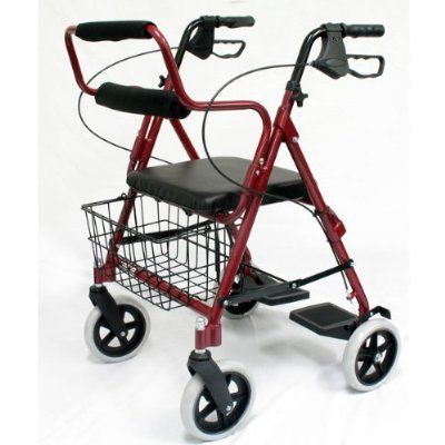 Bantex transport rollator walker chair wheelchair 3 in for Mobility walker