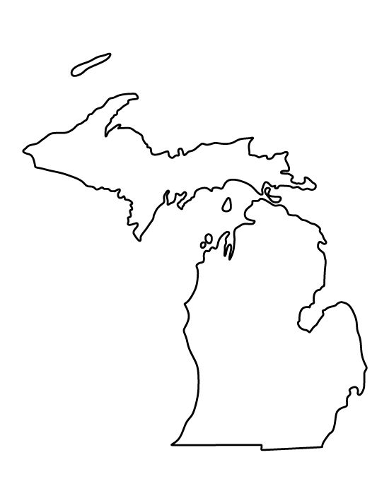 michigan pattern  use the printable outline for crafts