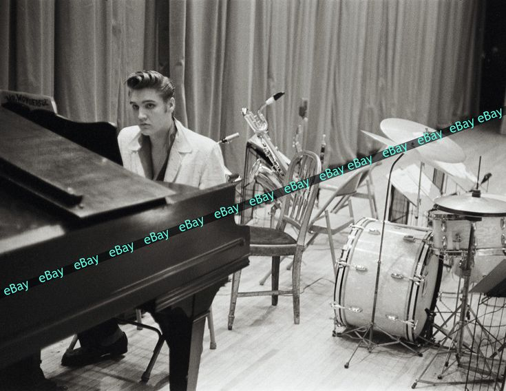 Rare Elvis Presley 1956 Photo 8.5X11 High Quality Photographic Print Piano | eBay