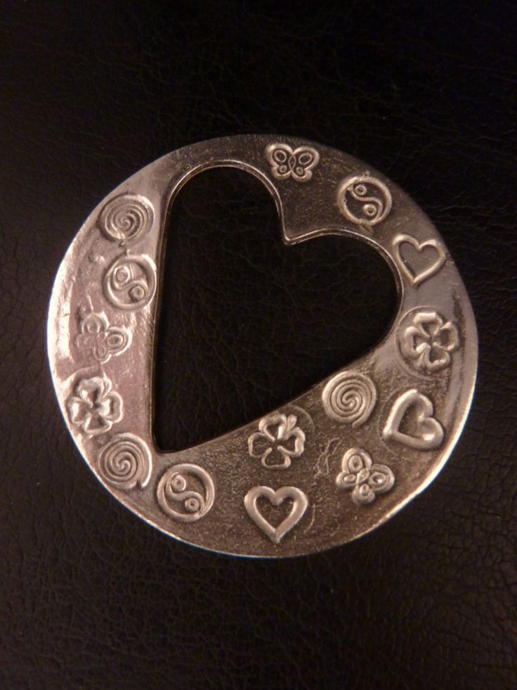 Love and Luck fine silver pendant