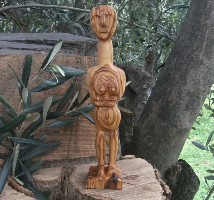 Cycladic Figure Sculpted From Olive Wood by ellenisworkshop on Etsy