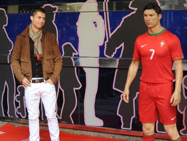 Cristiano Ronaldo unveils the latest wax figure of himself