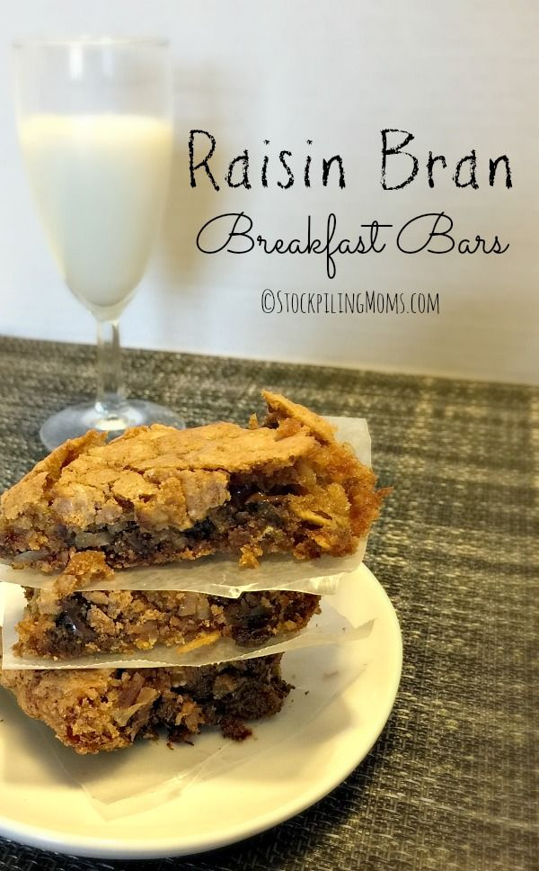 Looking for an easy breakfast on the go? Check out this Raisin Bran Breakfast Bars recipe.