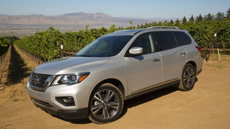 Check out the new 2017 Nissan Pathfinder. #nissan #suv BASE PRICE: TBD; est. $30,000 DRIVETRAIN: 3.5-liter V6, continuously variable transmission, 2/4WD OUTPUT: 284 hp, 259 lb-ft torque CURB WEIGHT: 4,292 FUEL ECONOMY: 20/27/23 mpg   Read more: http://autoweek.com