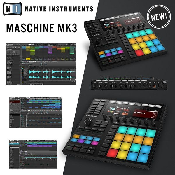 Introducing the next generation controller from Native Instruments, the Maschine Mk3. Designed to integrate perfectly with Maschine software and all Komplete 11 plugins to a superior level.