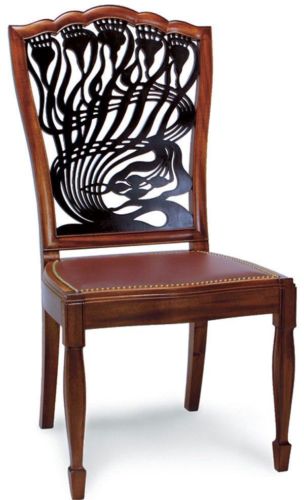 Art nouveau chair google search art nouveau for Artistic chairs