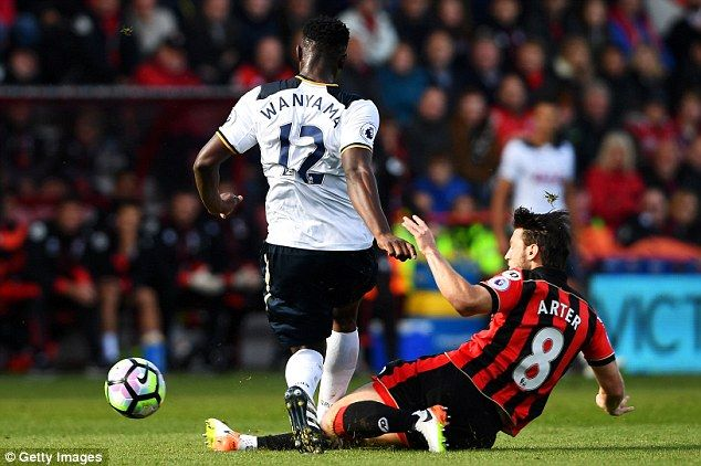 Harry Arter wasted no time in making his mark upon the tie, and the Spurs midfield