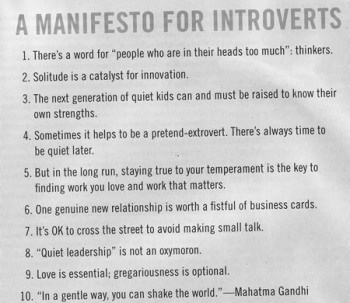 A manifesto for Introverts