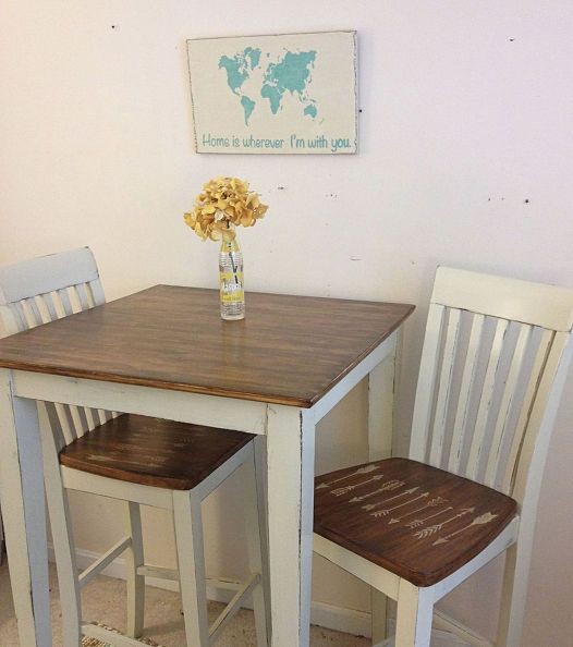 farmhouse chic breakfast table, painted furniture