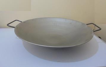 Wok de Fierro de 56 cm diámetro   www.losparrilleros.cl