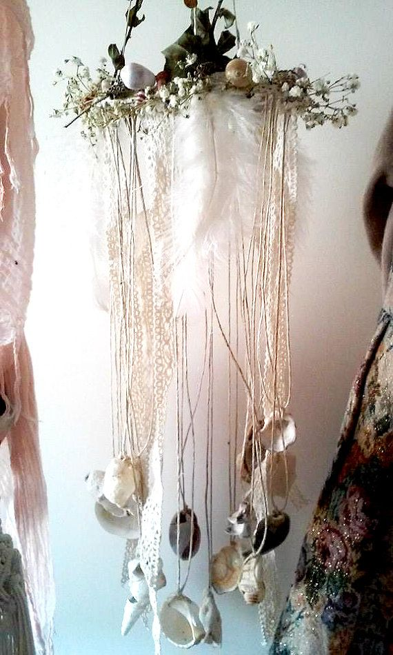 Hand made Wind Chime. The day the fairies by WingsofFaeries