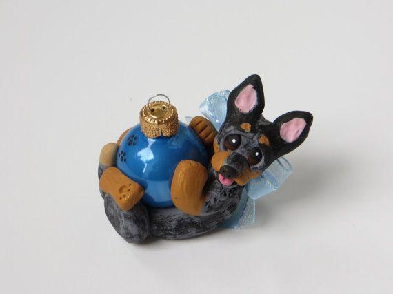 Australian Cattle Dog Christmas Ornament by HeartOfClayGirl