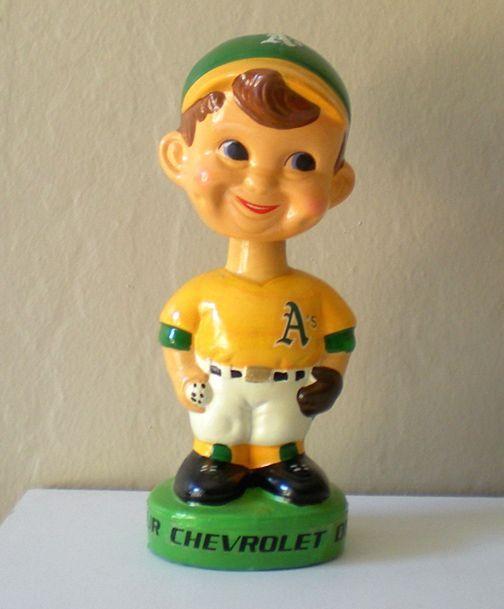 Vintage 1960's Baseball Bobblehead Advertising Chevy Dealers