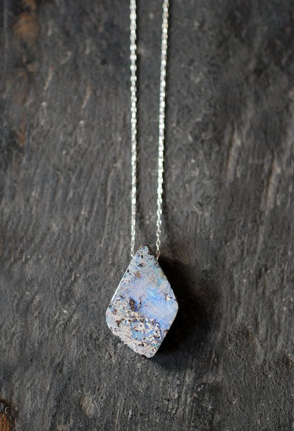 A beautiful pendant of raw opal.