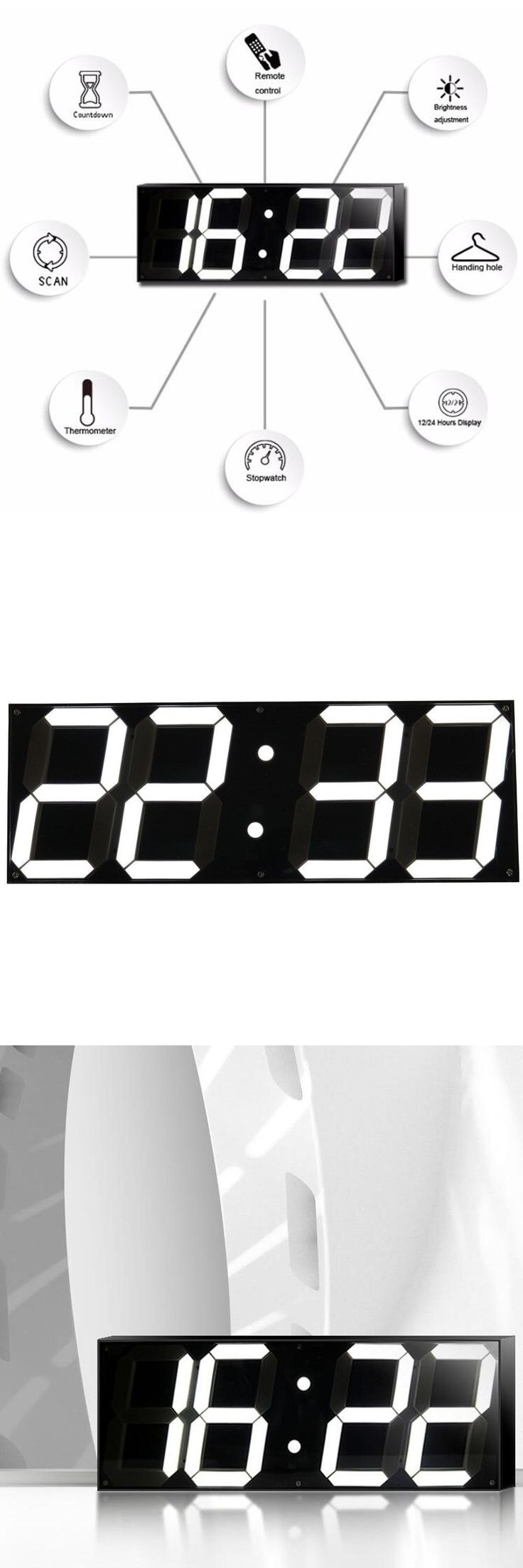 The 25 best led wall clock ideas on pinterest white clocks 59 inch jumbo digital led wall clock for school home decor train station amipublicfo Choice Image