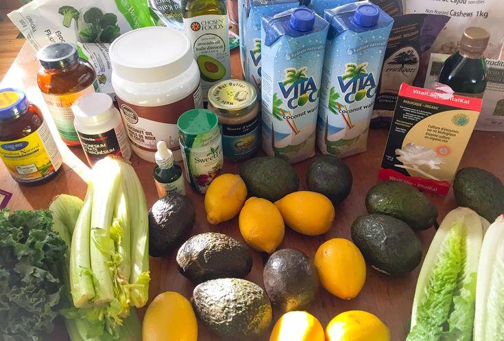 liste d'épicerie clean gut program detox jacynthe rené