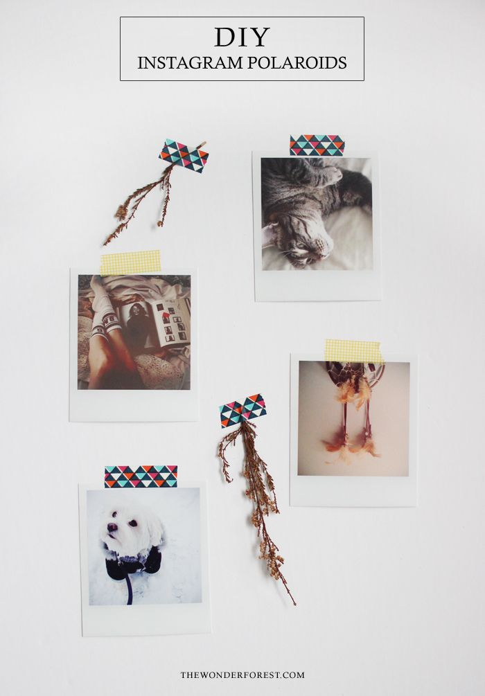DIY Instagram Polaroids : Print Instagram Photos at Home! | Wonder Forest: Design Your Life.