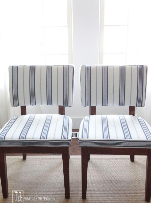 DIY Chair Reupholstering Tutorial