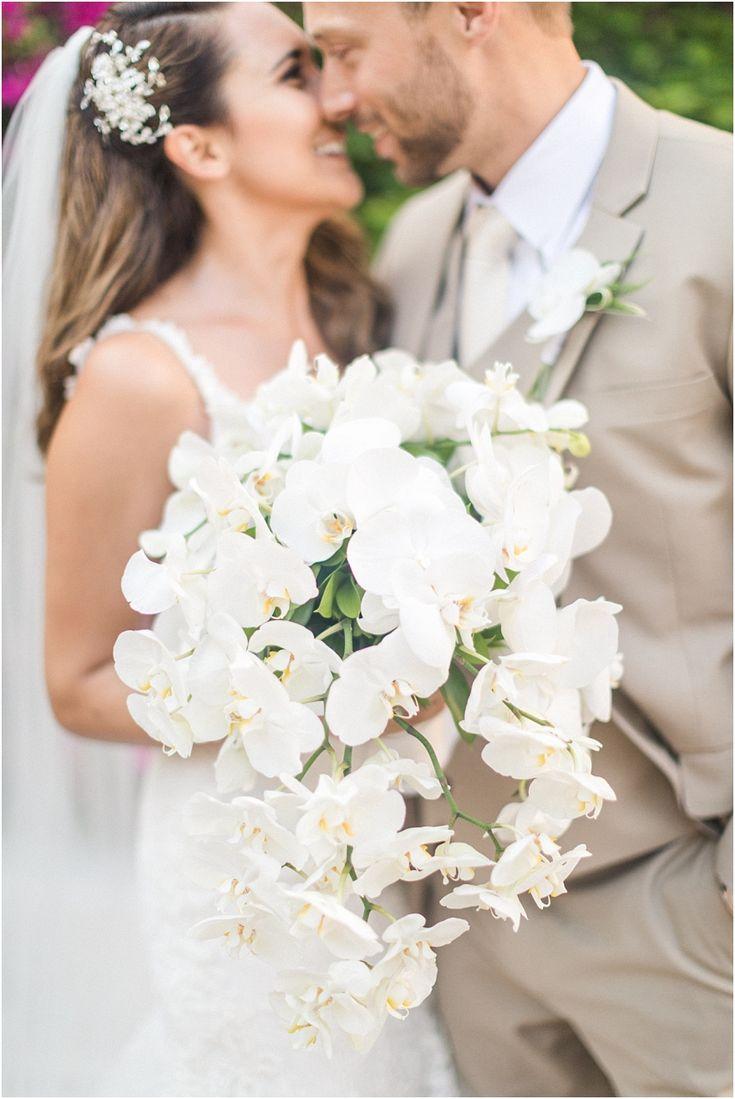 White Orchid Bouquet | Puerto Vallarta Destination Wedding Playa Fiesta | Catherine Leanne Photography