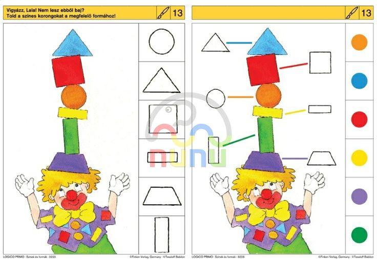 * Visuele discriminatie: clown en vormen!