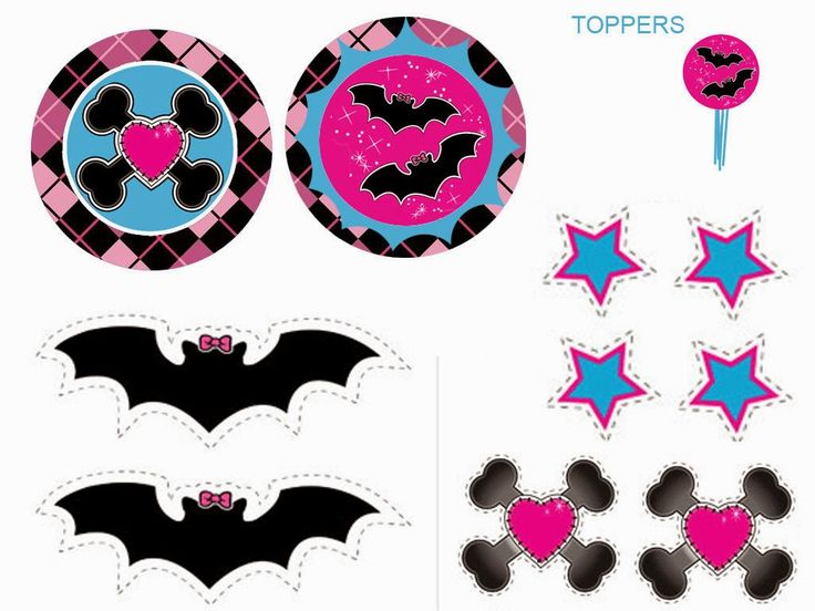 Monster High: Toppers y Etiquetas para Candy Bar para Imprimir Gratis.