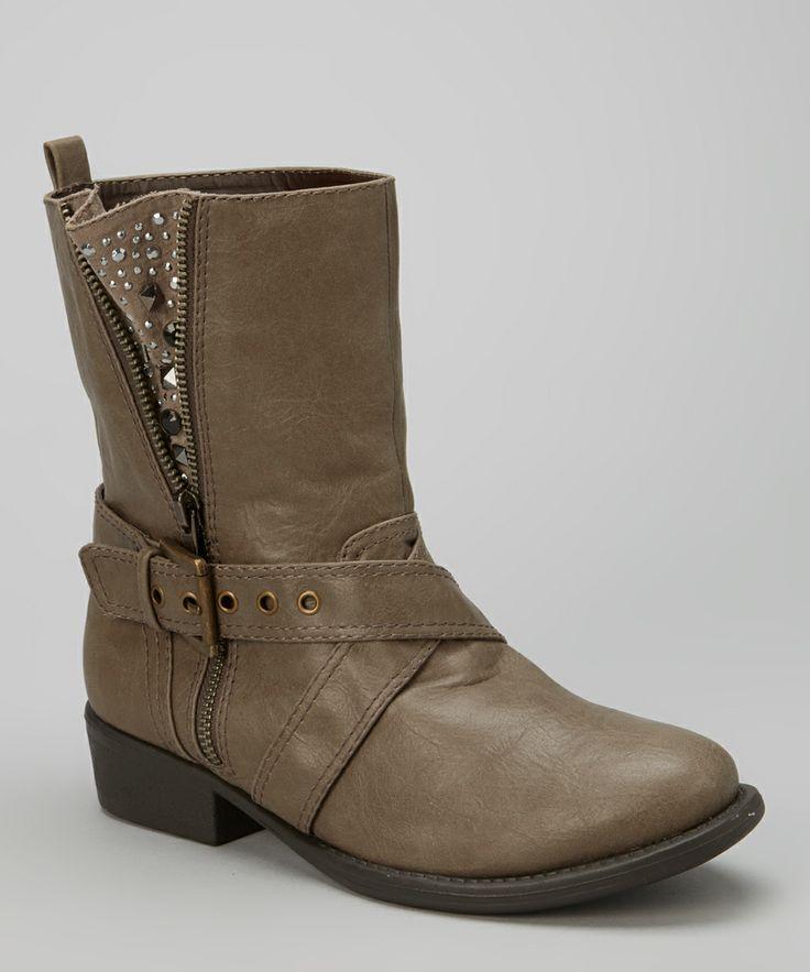 Taupe Jewel Boot