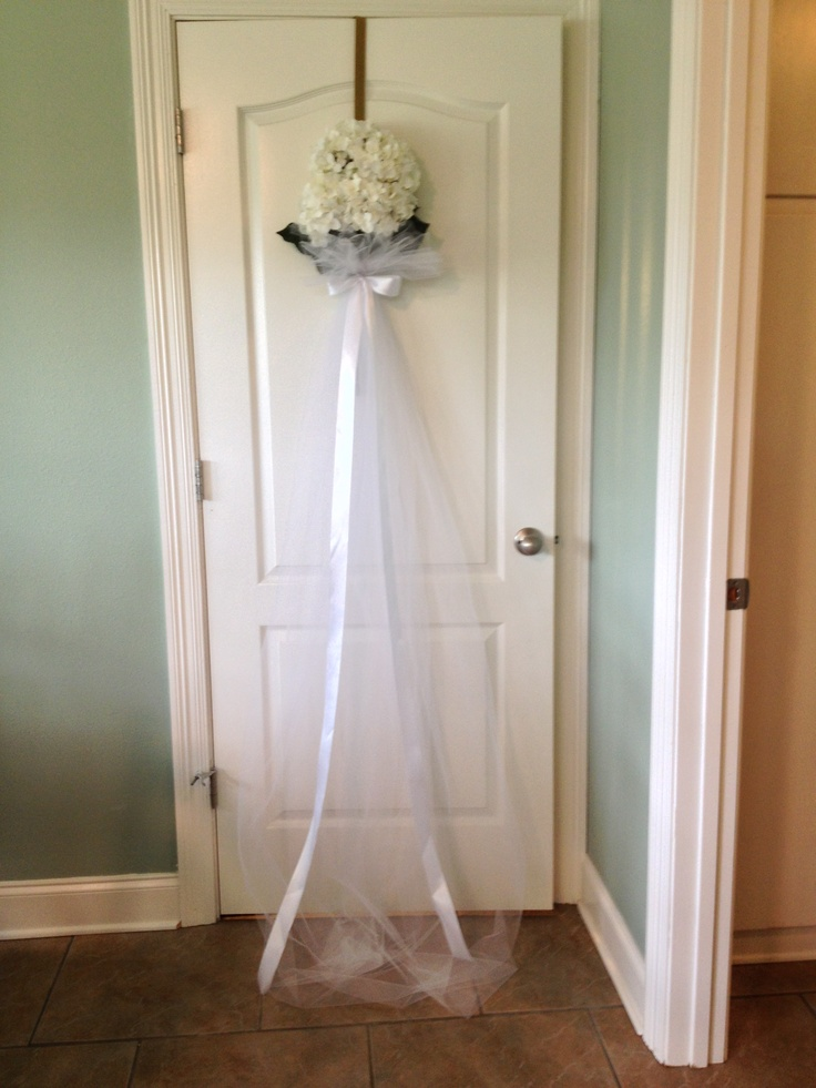 54 best black and white bridal luncheon images on for Baby shower front door decoration ideas