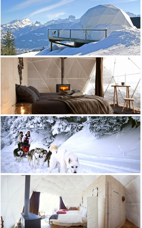 Wintersporttip: Whitepod Eco Resort op 1292 hoogte in de Zwitserse alpen