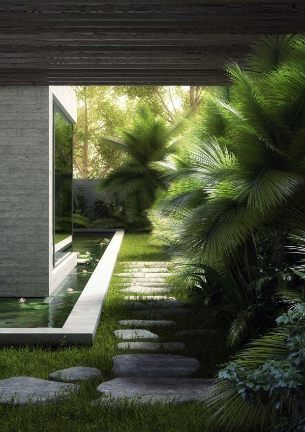 Yucatan House - Exterior Rendering - RNDR Studio www.rndrstudio.it