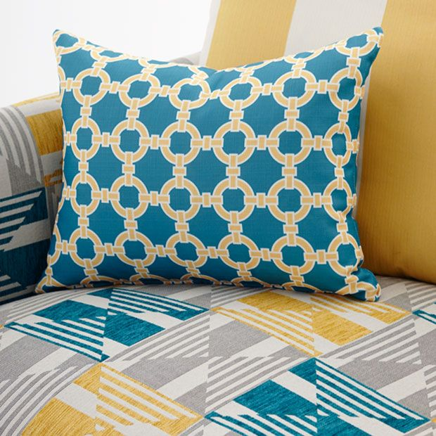 Strong 'maritime' prints from Warwick fabrics just in. Serenity Interiors.