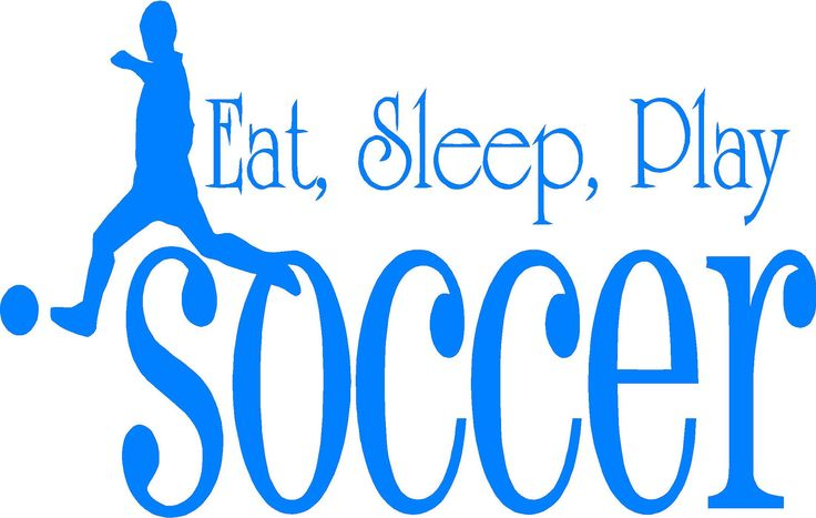 soccer phrases | Eat Sleep Play Soccer wall quote by designwithvinyl on Etsy