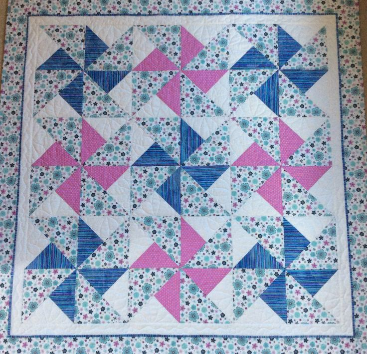 Handmade baby quilt. Free postage/Shipping.