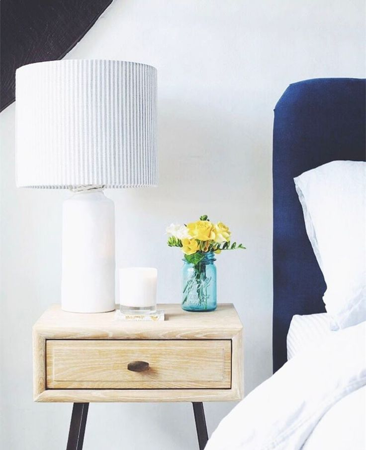 Our Campaign side table sets the stage for Will, from top interior blog Bright Bazaar, beautifully calming bedroom. Thanks for sharing your snap!