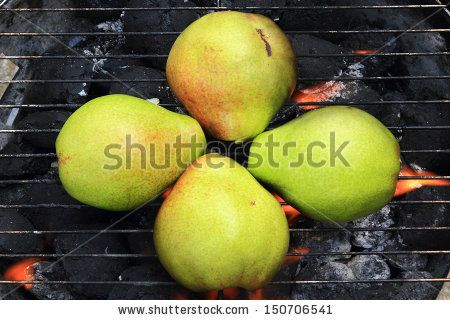 Picture of Grilling Pears on Charcoal Grill