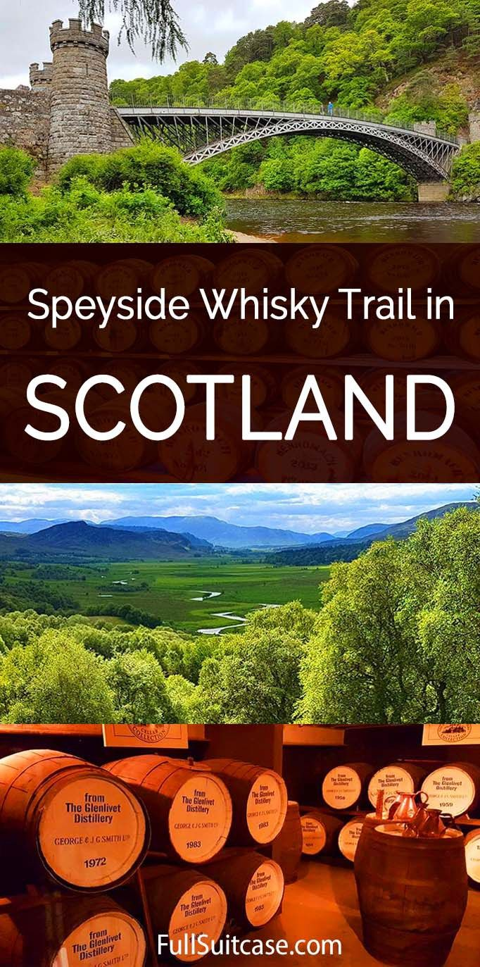 Speyside whisky trail 3-day tour from Edinburgh in Scotland. Visit the most famous single malt whisky distilleries, landmarks, and much more. Find out!