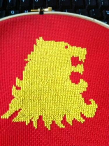 Game of Thrones House Lannister Cross Stitch