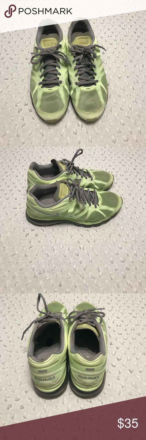 Ladies tennis shoes Ladies air max gray and lime Nike Shoes Sneakers