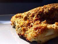 Baked Breaded Chicken Breast. Bone in