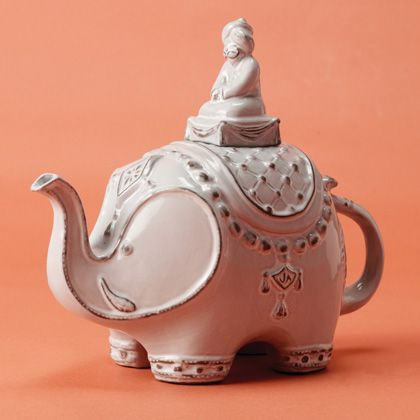 I have wanted an elephant teapot for a while and I think I've found the perfect one! Usually I am indifferent to Jonathan Adler but I love this.